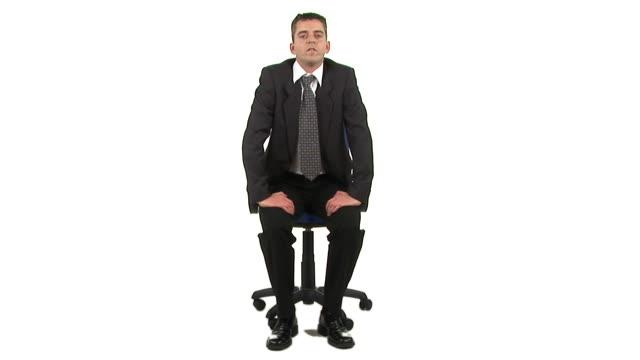 hd: job interview - endast en man i 30 årsåldern bildbanksvideor och videomaterial från bakom kulisserna