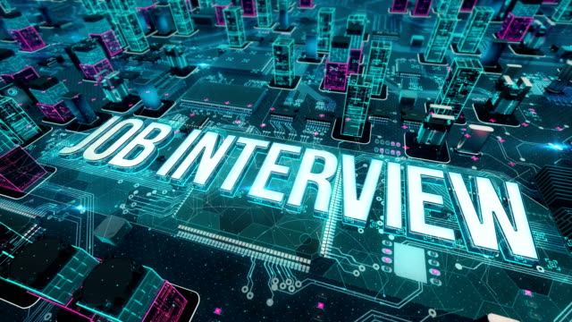 Job Interview with digital technology concept Digital city, diversity of business, technology and internet concept employment and labor stock videos & royalty-free footage