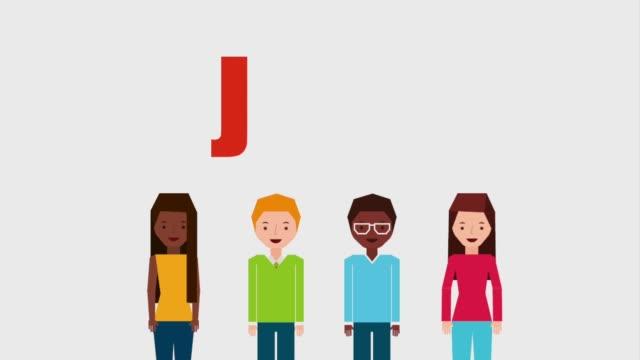 仕事人グループの異なる従業員 - 拳 イラスト点の映像素材/bロール