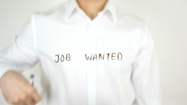 Job Wanted, Written on Glass video