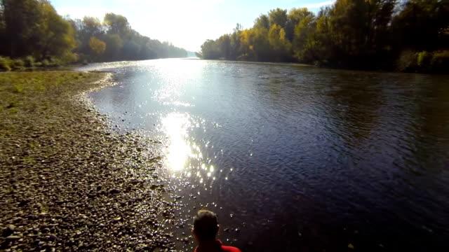 HD: Jogging Along The River video