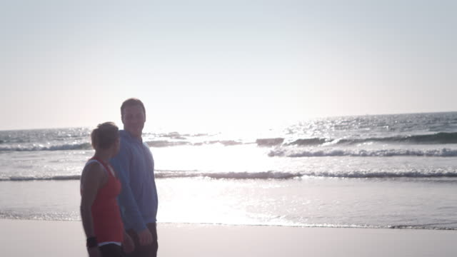 Jogging at the beach video