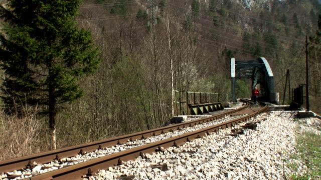 HD: Jogging On The Railroad video