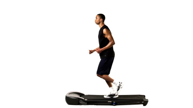 Jogging on treadmill video