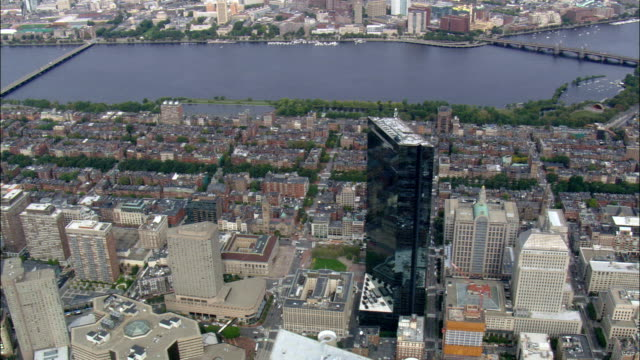 John Hancock Tower  - Aerial View - Massachusetts,  Suffolk County,  United States video