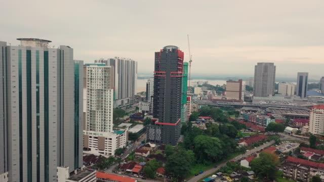 Johor Bahru city aerial view, Malaysia City skyline of JB city johor bahru stock videos & royalty-free footage