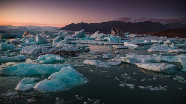 Jokulsarlon glacial lagoon in Iceland video