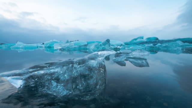 Jokulsarlon glacier lagoon in Iceland. video
