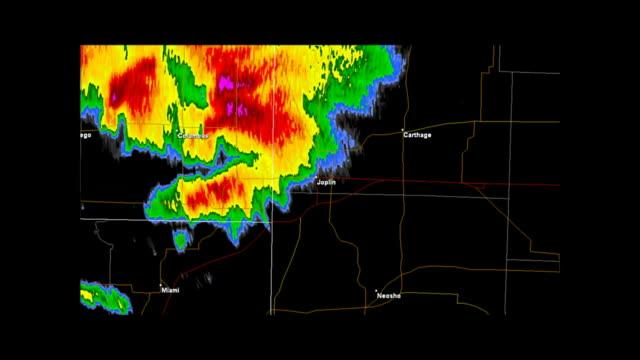 Joplin, Missouri 2011 Tornado Doppler Radar video