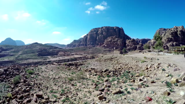 Jordan Petra desert panorama video