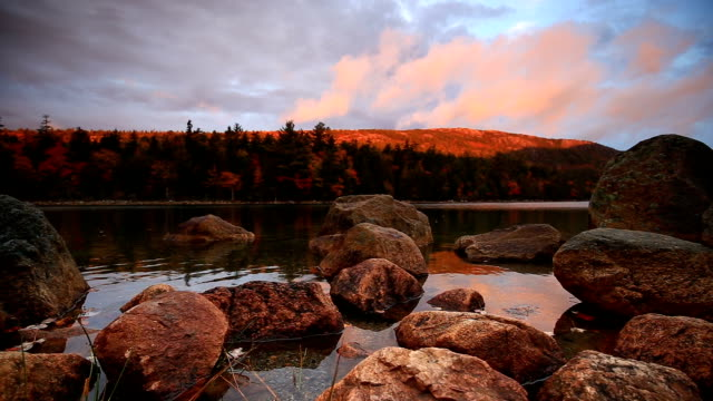 Jordan Pond in Acadia National Park, Maine, USA video