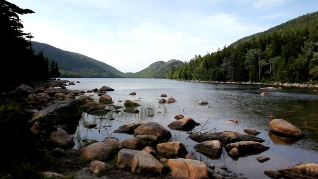 Jordan Pond view In Acadia National Park, Maine video