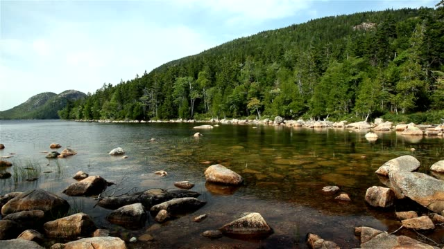 Jordan Pond view In Acadia National Park video