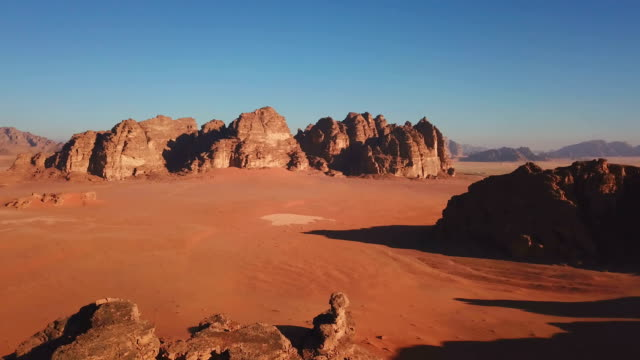 Jordanian desert mountain in Wadi Rum, Jordan Jordanian desert mountain in Wadi Rum, Jordan east stock videos & royalty-free footage
