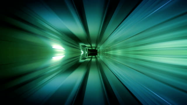 Journey through a tunnel. Loopable. Cubic. Green. video