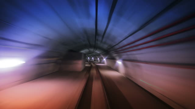 Journey through a tunnel. Loopable. Real colored. video