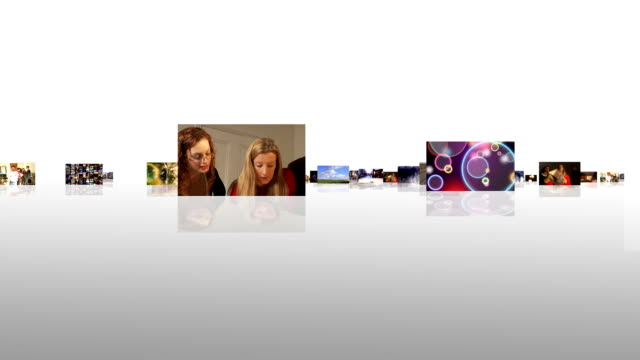 Journey through digital media screens video