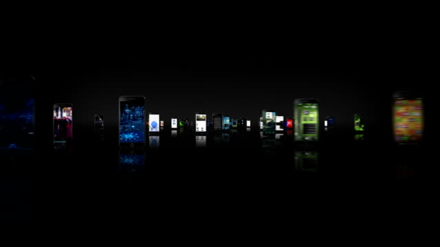 Journey through video screens. Smartphone-Tablet. Black/White. Loopable. 2 videos in 1 file. Journey through black tablets and mobile phones with a selection of multiple themed videos. Animation created exclusively for iStockphoto. multiple image stock videos & royalty-free footage