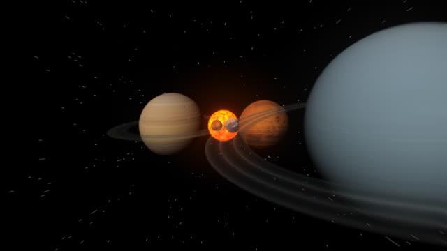 podróż do sun - układ słoneczny filmów i materiałów b-roll