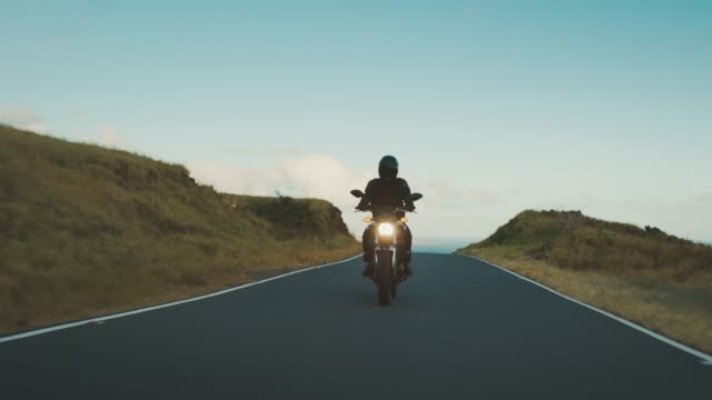 Journeying on country roads by the sea video