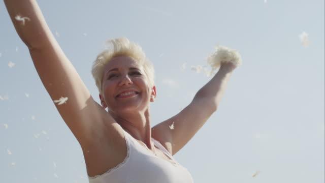 Joyful Mature Woman Smiling Video