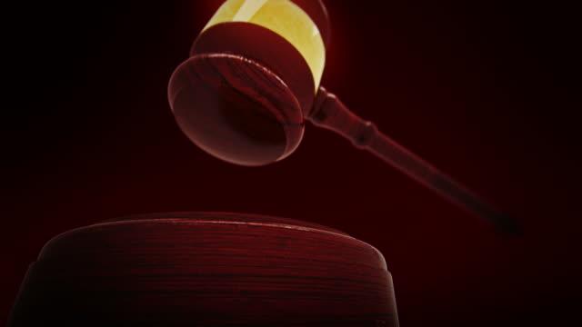 Judge gavel slow motion video