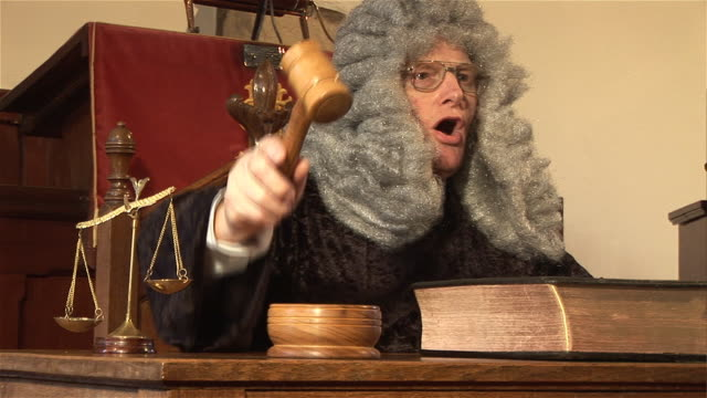 Judge hitting Gavel in  Court  1 - HD & PAL video