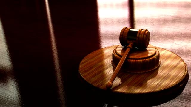 Judge mallet looping animation video