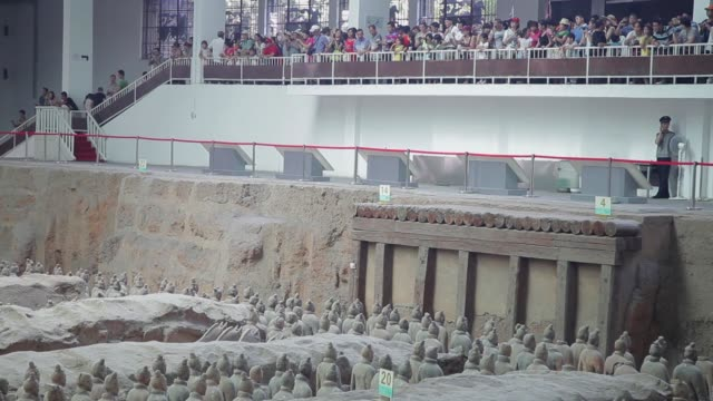 XI'AN, CHINA - 17 Jul 2013:  terracotta army warriors and soldiers found outside Xi'an China