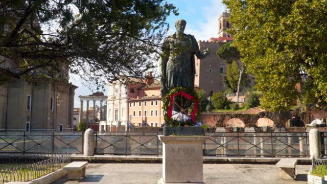 Julius Caesar Bronze Statue Roman Forum video