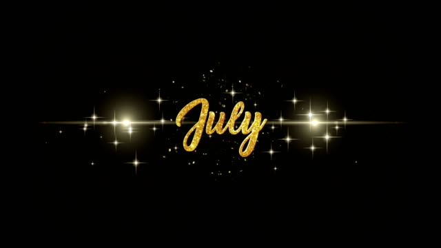 July  Christmas Beautiful golden greeting Text Appearance from blinking particles with golden fireworks background. video
