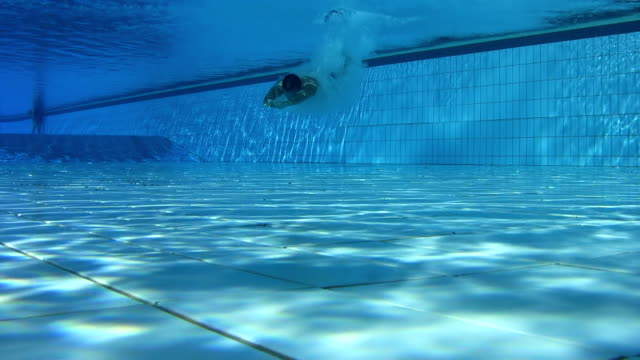 HD UNDERWATER: Jumping And Swimming In Pool video