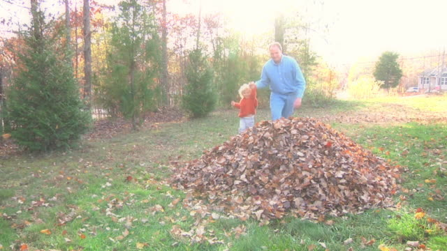 Jumping In Leaves video