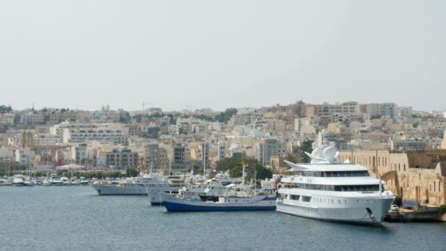 June 2016. Valletta, Malta. Boats and ships in port video