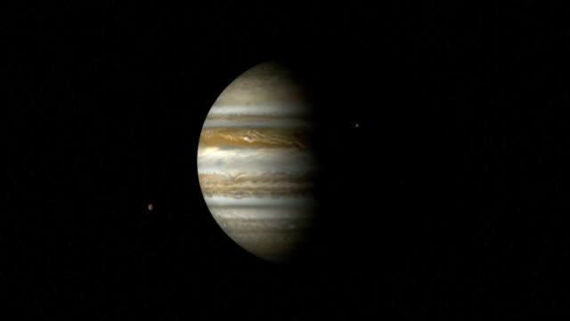 jupiter i moons upływ czasu (cgi) (loopable - io księżyc filmów i materiałów b-roll