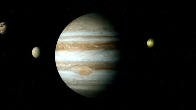 jupiter i moons - io księżyc filmów i materiałów b-roll