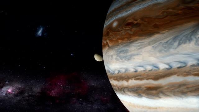jupiter half shadowed - io księżyc filmów i materiałów b-roll