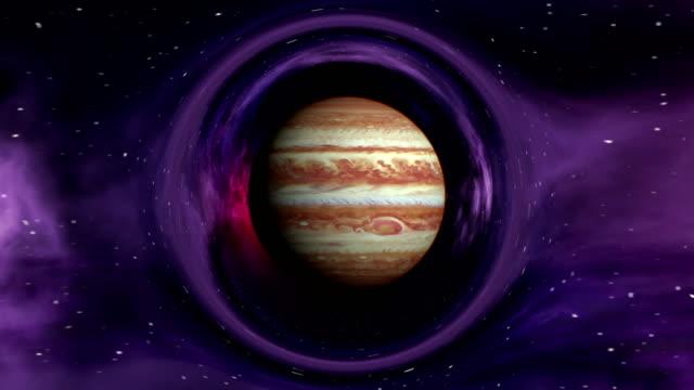 jupiter in curved space - jowisz filmów i materiałów b-roll