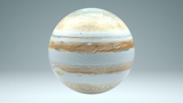 Jupiter Rotating Seamless Looping Isolated 4K with Luma Matte
