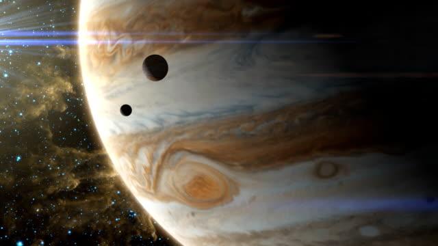jupiter storm i moons - io księżyc filmów i materiałów b-roll