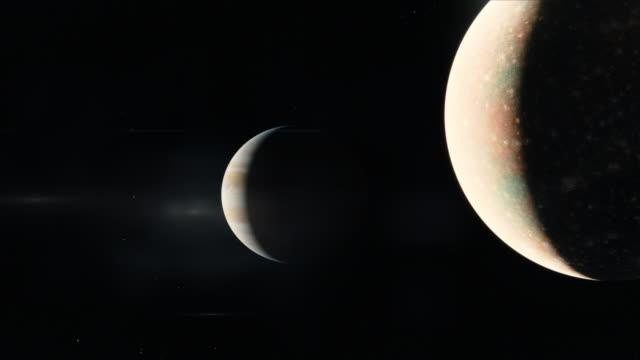 jupiter system - io księżyc filmów i materiałów b-roll