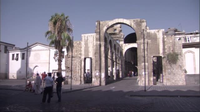Jupiter Temple in Damascus/SYria Ruins of the Jupiter Temple at the entrance of Al-Hamidiyah Souq/Damascus-Syria 30.09.2015 damascus stock videos & royalty-free footage