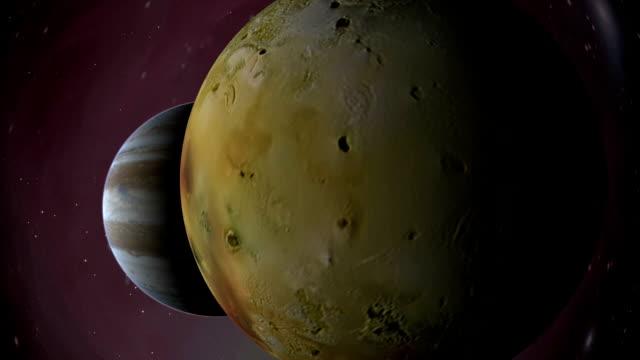 jupiter's moon io i gazu giant - io księżyc filmów i materiałów b-roll