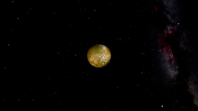 jupiters orbiting moons - io księżyc filmów i materiałów b-roll
