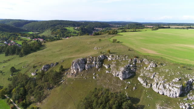 Jurassic Rocks of the Franconian Jura Formation In Bavaria video