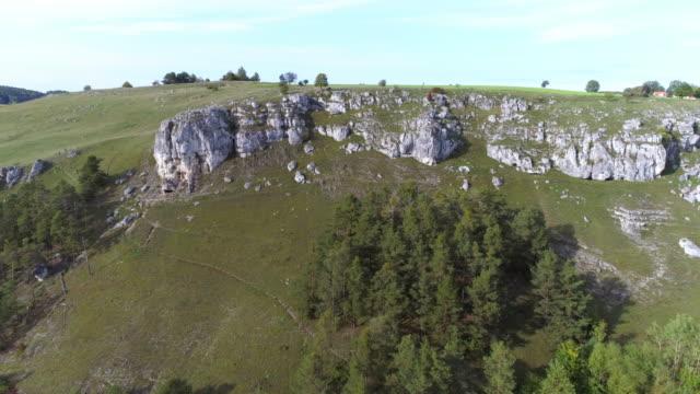 Jura Felsen der fränkischen Jura Formation in Bayern – Video