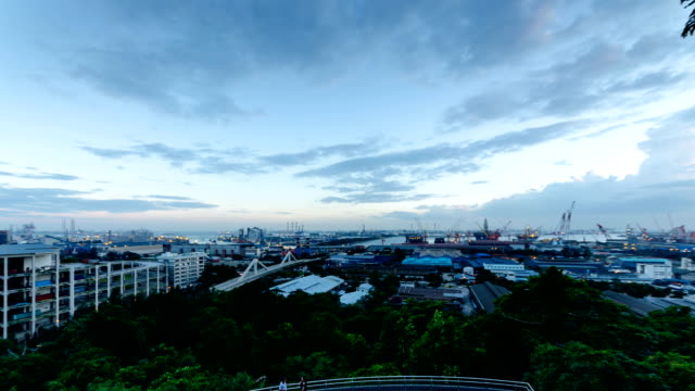 Jurong Island, Singapore during Dusk video