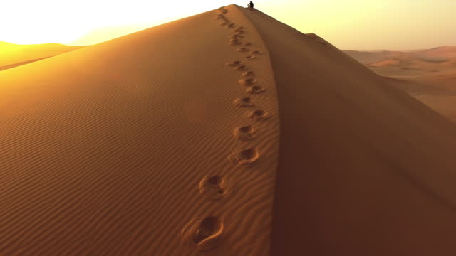 Just footprints and sand video