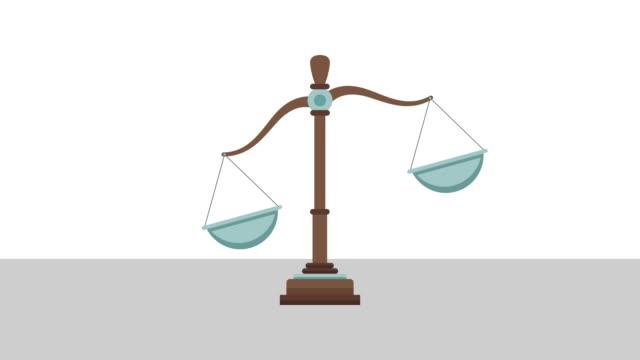 justice balance isolated hd animation - balance video stock e b–roll