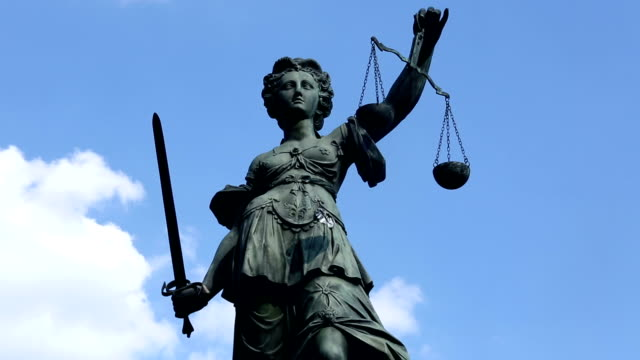 Justice statue - Time Lapse Justice statue - Time Lapse law stock videos & royalty-free footage